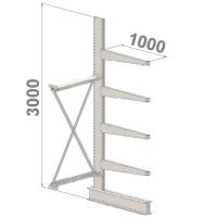 Ulokehylly jatko-osa 3000x1500x1000,5 tasoa