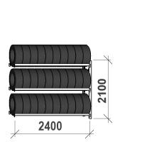 Rengashylly jatko-osa 2100x2400x500, 3 tasoa, 300kg/taso