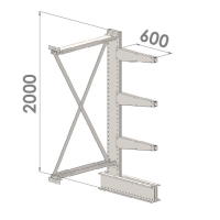 Ulokehylly jatko-osa 2000x1500x600,4 tasoa