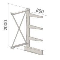 Ulokehylly jatko-osa 2000x1500x800,4 tasoa