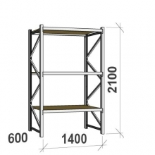 Starter bay 2100x1400x600 600kg/level,3 levels with chipboard