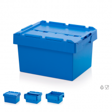 REUSABLE CONTAINER WITH LID 60x40x32 cm