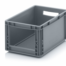 STORAGE BOXES WITH OPEN FRONT. 40x30x22 cm. Grey