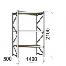 Starter bay 2100x1400x500 600kg/level,3 levels with chipboard