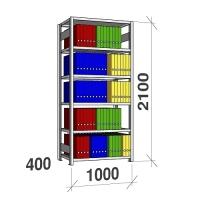 Arkistohylly perusosa 2100x1000x400 150kg/hyllytaso,6 tasoa