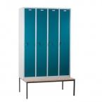 4 door locker with bench 1190x810x2090