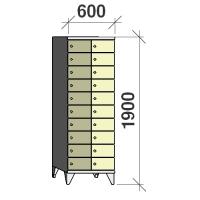 Lokerokaappi 20:lla ovella 1900x600x545