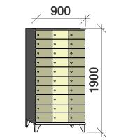 Lokerokaappi 30:lla ovella 1900x900x545
