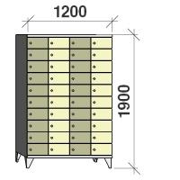 10-tier locker, 40 doors, 1900x1200x545 mm
