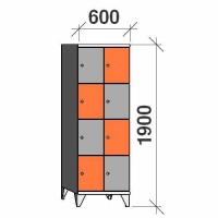 Lokerokaappi 8:lla ovella 1900x600x545