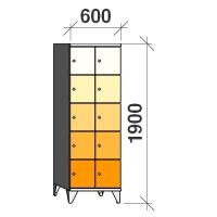 Lokerokaappi 10:lla ovella 1900x600x545