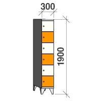Lokerokaappi 6:lla ovella 1900x300x545