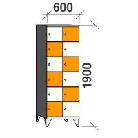 Lokerokaappi 12:lla ovella 1900x600x545