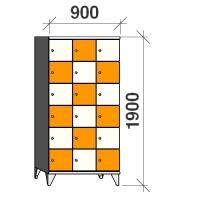 Lokerokaappi 18:lla ovella 1900x900x545