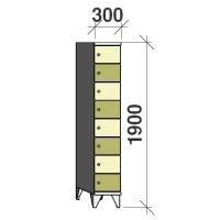 Lokerokaappi 8:lla ovella 1900x300x545
