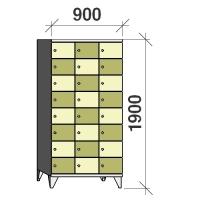 8-tier locker, 24 doors, 1900x900x545 mm