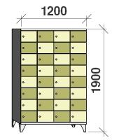8-tier locker, 32 doors, 1900x1200x545 mm