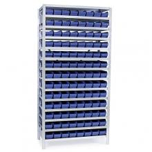 Laatikkohylly 2100x1000x500, 104 laatikkoa 500x120x95