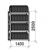 Rengashylly perusosa 2500x1400x500, 4 tasoa, 600kg/taso
