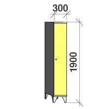 Locker 1x300, 1900x300x545, long door