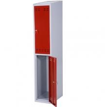 Pukukaappi 2:lla ovella 1920x350x550  punainen/harmaa
