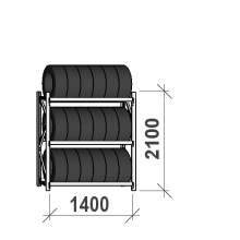 Rengashylly perusosa 2100x1400x500, 3 tasoa, 600kg/taso