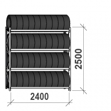 Rengashylly perusosa 2500x2400x500, 4 tasoa, 300kg/taso