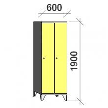 Locker 2x300, 1900x600x545, long door