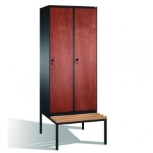 Vaatekaappi 2:lla ovella ja penkillä 2090x810x815,MDF-ovet