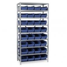Laatikkohylly 2100x1000x500, 32 laatikkoa 500x240x150
