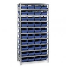 Laatikkohylly 2100x1000x500, 40 laatikkoa 500x240x150