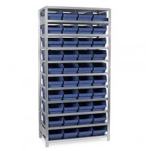 Laatikkohylly 2100x1000x600, 40 laatikkoa 600x240x150