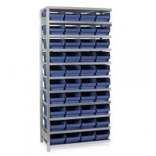 Laatikkohylly 2100x1000x300, 40 laatikkoa 300x240x150 jatko-osa