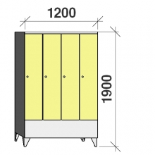 Pukukaappi 4:lla ovella 1900x1200x545 lyhytovinen