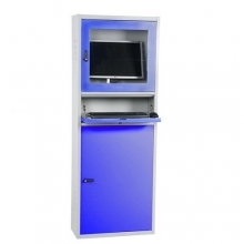 Tietokonekaappi 1730x280x640 mm harmaa/sininen