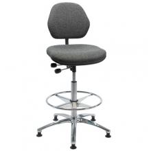 ESD Työtuoli Office kangasverhoilulla, korkeus 700-960 mm