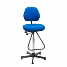 Chair Aktiv high with footrest blue