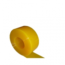 PVC curtain matt yellow 2x200mm/meter