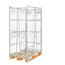 Pallet cage 1200x800x1800 opening short side