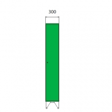 Koulukaappi 1590x300x545