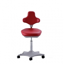 Lab Chair red with castors