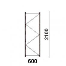 Kevytorsihyllyn pylväselementti 2100x600 mm MAXI