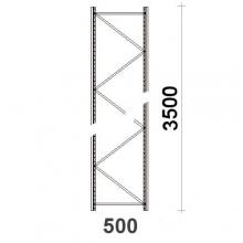 Kevytorsihyllyn pylväselementti 3500x500 mm MAXI