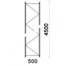 Kevytorsihyllyn pylväselementti 4500x500 mm MAXI
