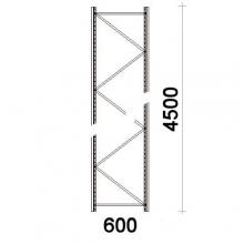 Kevytorsihyllyn pylväselementti 4500x600 mm MAXI