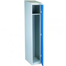 Pukukaappi 1:lla ovella 1920x350x550 sininen/harmaa