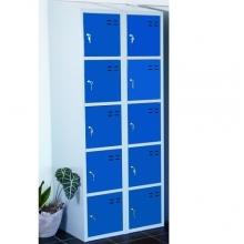 Storage locker, blue/grey 10 comp. 1920x700x550