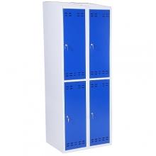 Pukukaappi 4:lla ovella 1920x700x550 sininen/harmaa