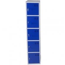 Storage locker, blue/grey 5 compartments 1920x350x550