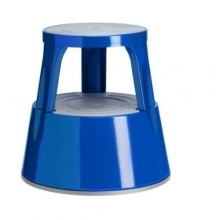 Twin steel stepstool blue